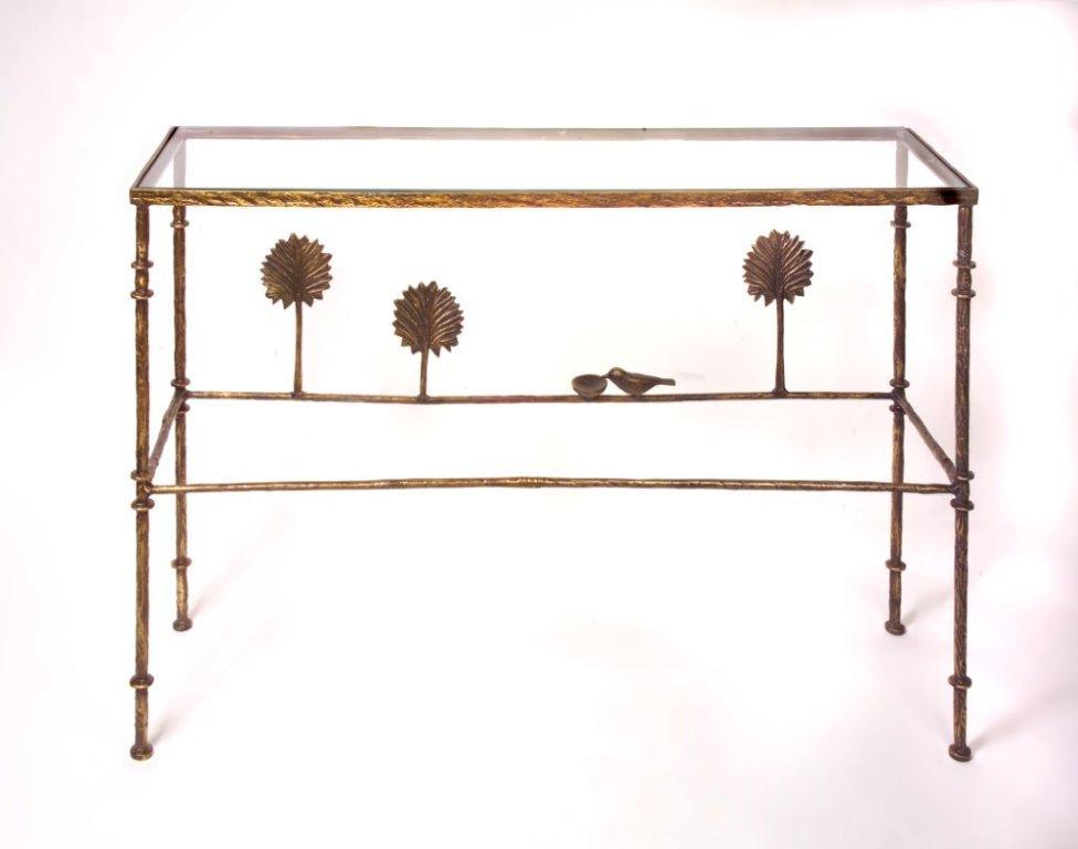 Giacometti Console Three with Bird Dish
