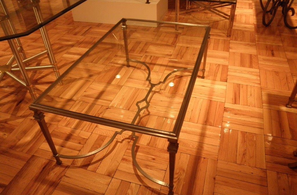 Pewter Steel Coffee Table