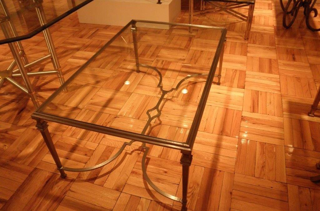 Pewter Steel Coffee Table