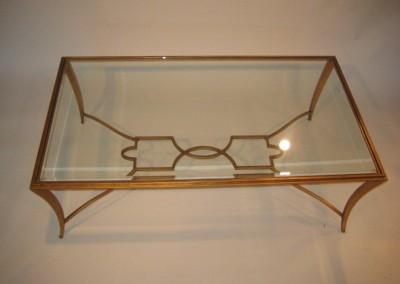 Saber Steel wrought Iron Gold Leaf Finish