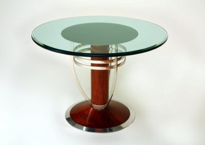Polished_Stainless_With_Mahogany_Table