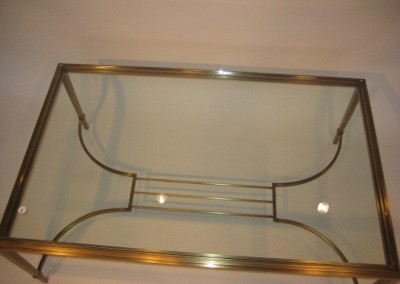 Brass Lyre Coffee Table