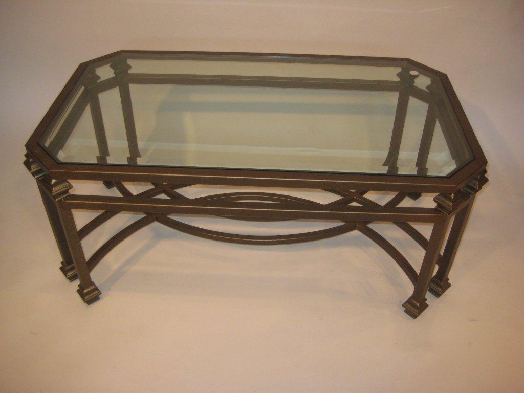 Double Leg Coffee Table Wrought Iron