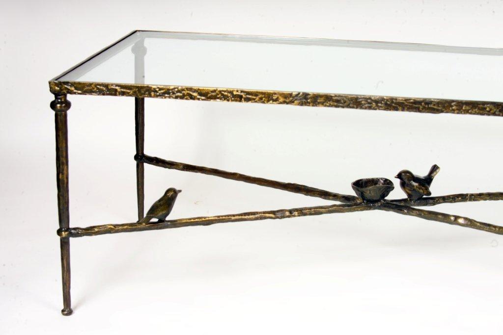 Giacometti Style Bird Table Detail