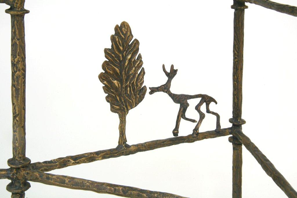 Giacometti Cypress Tree Console Bronze Detail
