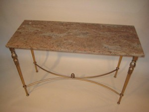 Louis XVI Steel Console Marble Top