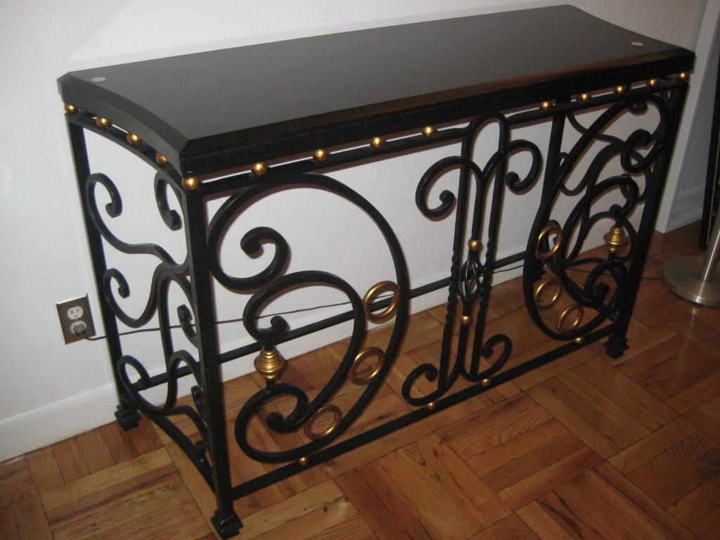 Traditional Marble Steel Console Custom Furnishings Manufacturing Reproduction