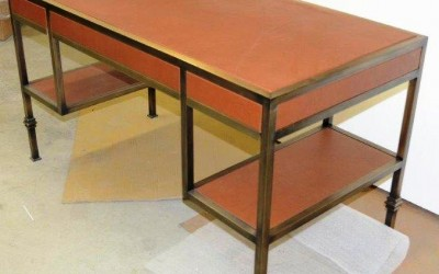Bronze Desk With Leather