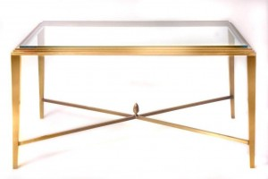 Bronze or Brass Traditional Table in the Style of Hepplewhite
