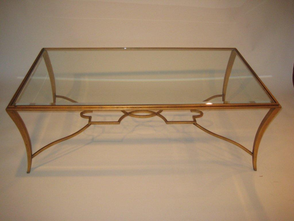 Saber Steel Wrought Iron Gold Leaf Finish Table