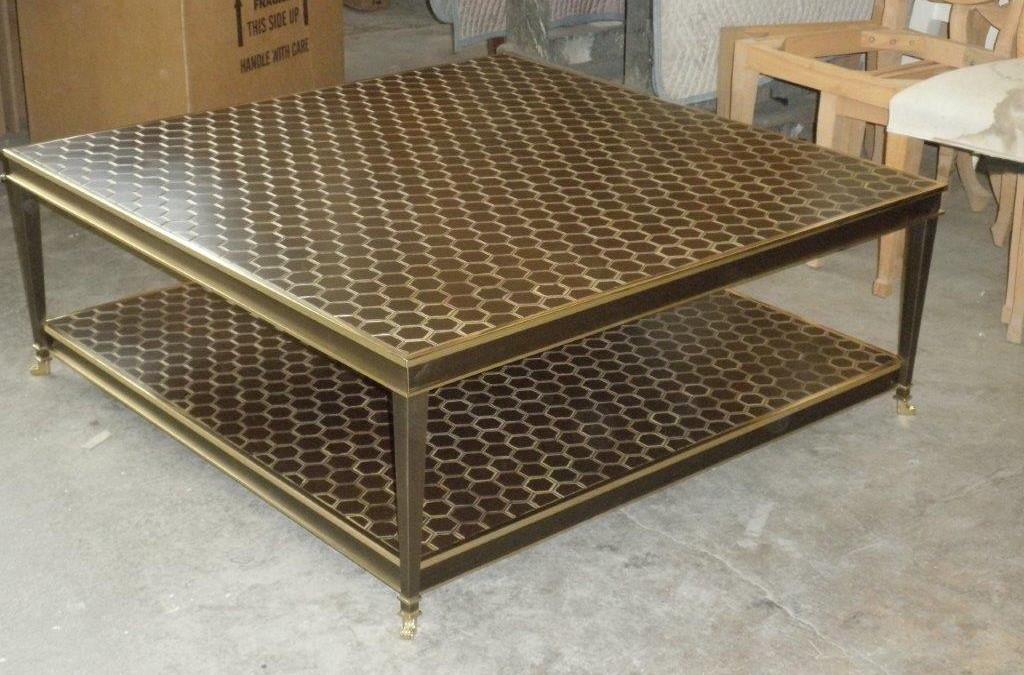 Thomas Buraki Base Brass Bronze Table